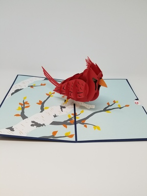 Cardinal Lovepop Greeting Card