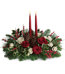 Christmas Wishes Centerpiece from Weidig's Floral in Chardon, OH