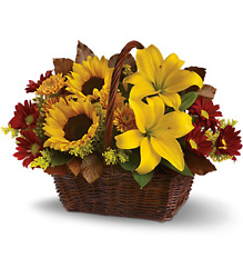 Golden Days Basket from Weidig's Floral in Chardon, OH