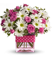 Teleflora's Polka Dots and Posies from Weidig's Floral in Chardon, OH