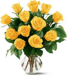 12 Yellow Roses from Weidig's Floral in Chardon, OH